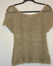 DESIGNED BY N.T. Short Sleeve Crochet Top , Size S