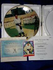 New York Yankees Lou Gehrig Luckiest Man Gold Plate Bradford Exchange COA