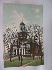 Vintage Postcard View Of The Town Hall In Apponaug Rhode Island 1910