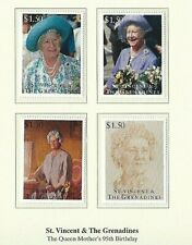 ST. VINCENT & GRENADINES 1995 - QUEEN MOTHER'S 95th BIRTHDAY - SG 2927/30  MNH
