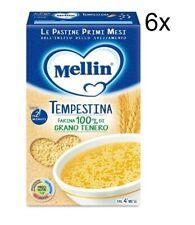 6x Mellin Le Pastine Tempestina Babynahrung nudeln pasta ab 4 Monaten 320g