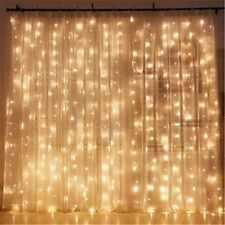 300 LED Window Curtain String Light for Wedding Party Home Garden Bedroom