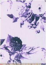 Scuba Jersey Knit - Blue Lilac Floral - Per Metre
