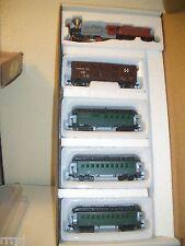 Ho 0-4-0 Santa Fe Steam Loco W/Tender & 3 Pass Car & Stock Car # Rr360