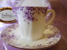 "DAINTY MAUVE DAISY   CUP,  SAUCER  AND 6"" PLATE * * *  MAUVE TRIM  #051/M - WOW!"