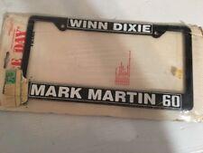 NOS1990s NASCAR Mark Martin 60 Original Winn-Dixie packaging License Plate frame