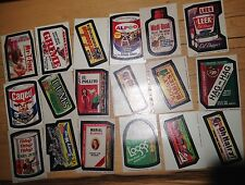 1970s TOPPS WACKY PACKAGES STICKERS RANDOM SERIES (18 Cards) rare collectible