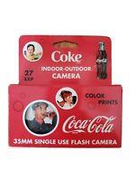 Coca Cola 35mm Single Use Flash Camera 27 Exposure EXP 2006 Collectible Travel