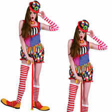 Clown Costume Ladies Circus Fancy Dress Party Adult Outfit Women's New
