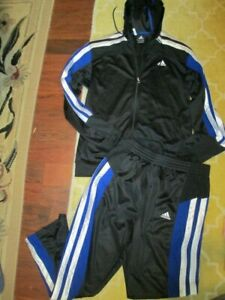 mens adidas track suit pants and jacket climacool L