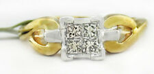 GENUINE 0.34 Cts DIAMOND Princess Cut ENGAGEMENT RING 10K GOLD * New With Tag **