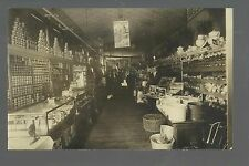 Red Oak IOWA RP 1910 INTERIOR GENERAL STORE nr Shenandoah Villisca Clarinda
