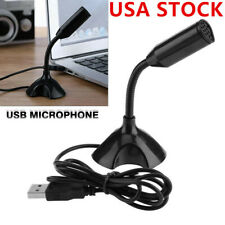 USB Mini Desktop Speech Microphone Stand for PC Laptop Computer Recording US