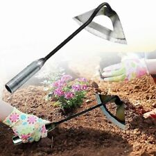 More details for farm garden handheld all-steel hardened hoe weeding rake planting shovel weed