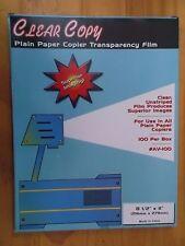 Cesar Copy 8 1/2 x 11 Plain Paper copier Transparency Film 100 sheets