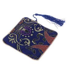 Guzheng Nail Tape Storage Pouch Bag Silk Purse Display Holder Organizer Blue