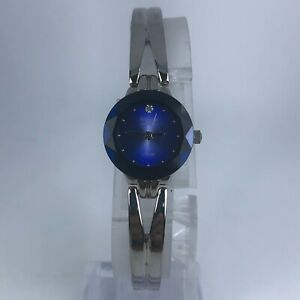 Armitron Womens 2967 Diamond Now Blue Dial Stainless Steel Band watch