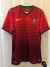 2014 Portugal National Team World Cup Nike Red Home Jersey Men's Medium