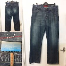 Mens French Connection FCUK Blue Jeans Denim Mid Wash Straight Leg W36 L34 /Q9