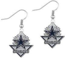 NFL Dallas Cowboys Fishhook Dangle Star Earrings Charm