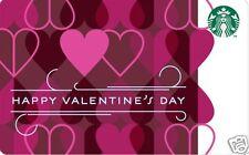 "Starbucks Gift Card ""Happy Valentines Day"" 2014 Mint"