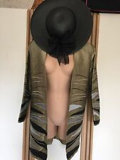 Pure Thai Silk Jacket And Hat Mother Of The Bride Wedding Guest Cruise Size 12