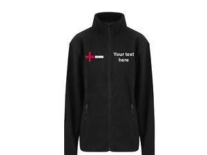 Embroidered micro fleece coat jacket electricians with NIC Logo/ company name