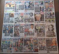 Metro Newspaper - June 2020 Collection (21 Issues) - Virus - Black Lives Matter
