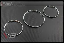 CHROME SILVER METAL GAUGE RINGS FOR Benz W163 ML-CLASS ML320 ML350 ML430