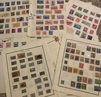 EARLY US STAMP LOT ON ALBUM PAGES. MOSTLY 1800's to EARLY 1940's. GREAT GIFT