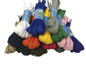 FLAT STRONG SHOELACES BOOTLACES - 6 LENGTHS - 7 COLOURS - FREE UK P&P!