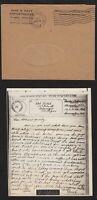 1944 WWII era V-Mail envelope & letter intra-U.S. useage