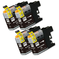 4 PK BLACK Ink Cartridge plus Chip for Brother LC103 MFC J285DW J470DW J475DW