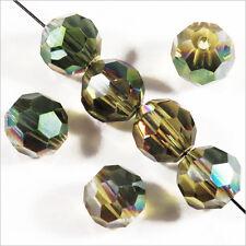 Lot de 20 perles à FACETTES 8mm en Cristal DE Bohème cristal Vert