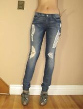 $225 Seven 7 For All Mankind Roxanne Skinny Jeans Liberty Adara Distress 24 XXS