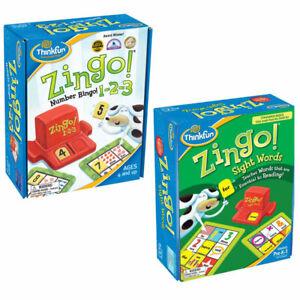ThinkFun Zingo Game Value Pack: 123 Number Bingo + Sight Words