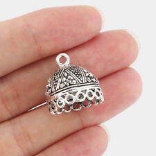 10 Antique Silver Tassel End Cap Beads Stopper Connector Jewelry Making Findings