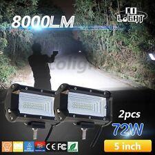 2x 72W LED Work Light Bar Car Truck Driving Flood  Off-roads LED Headlight