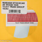 Tichy Train Group HO 10362 Wabash Stockcar 40' Wood 1925  Decal