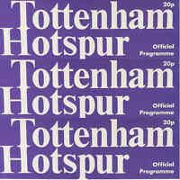 Programme Tottenham Hotspur Football White Hart Lane Programmes 1978/79 Various