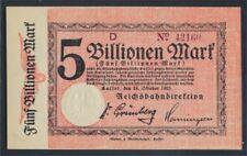 Kassel Pick-No.: S1169 Inflationsgeld el Alemán Reichsbahn Cassel nueva (8590249