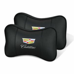Car Headrest Neck Rest Pillow Cushion For Cadillac