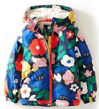 Girls Coat Fleece Jacke Waterproof Floral / Stars Print Winter Coats Age 345678