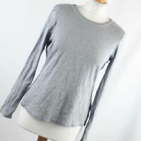 Marks & Spencer Womens Size 14 Grey Plain Cotton Basic Tee