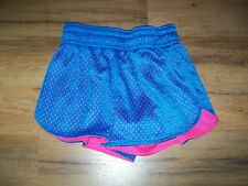 BCG Girls Cute Active Shorts, size 7, blue & pink