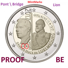 2 Euro Com Luxembourg 2017 BE  PROOF - Duc Guillaume Pont  Bridge et Lion