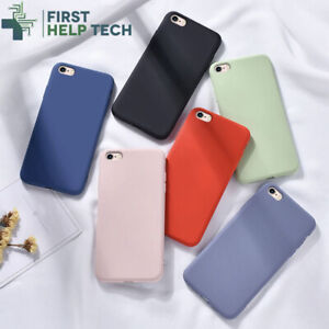 Liquid Silicone Case For iPhone SE 2020 / 7 / 8 Luxury Thin Soft Phone Cover New