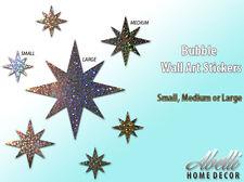 NEW! Glitter STARS, Colour Changing Glitter Wall Stickers, Abelli Home Decor