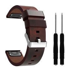 22mm Leder Armband Uhrenarmband Ersatz Strap für Garmin Fenix 5 Plus