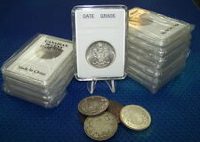 100 coin holders Slab for Can/NFDl 50 cents and  US L.Cent Early date **29.7mm**